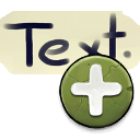 128x128/actions/insert-text.png
